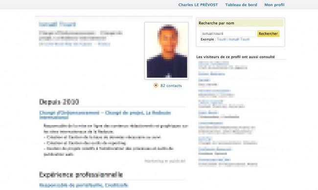 Viadeo - profil d'un membre