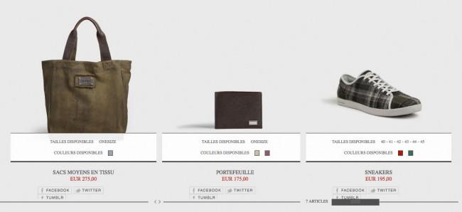Dolce&Gabbana – couleurs et carrés coloris assez éloignés