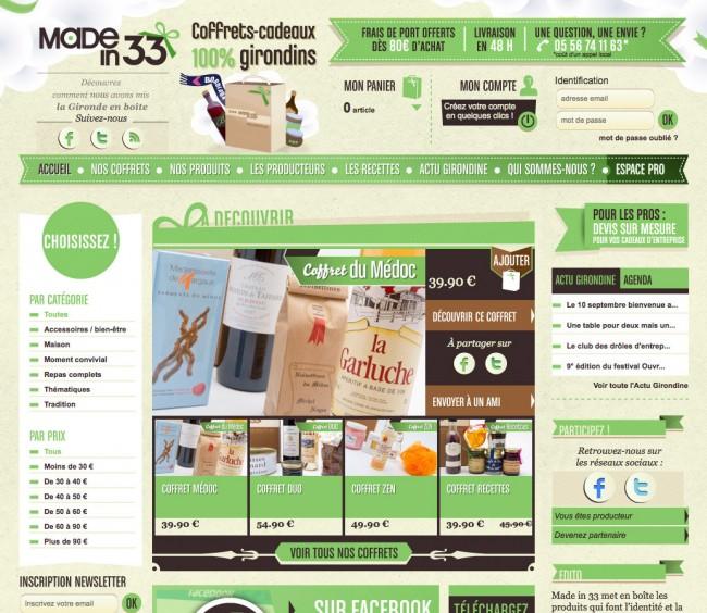 Design web - madein33.com