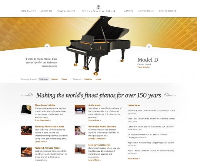 Design web - steinway.com