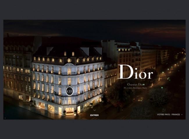 Dior.com - splash page