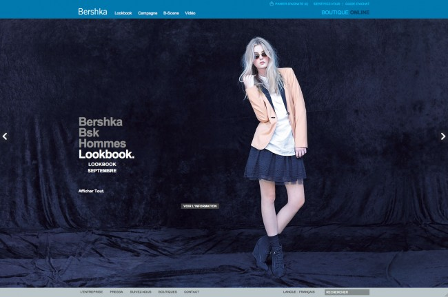 Bershka - lookbook de septembre