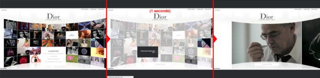 Dior.com - fonctionnement de l'affinage