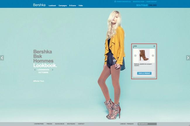 Bershka - lookbook Bershka (femme) avec menu