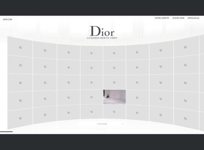 Dior.com - chargement des vidéos