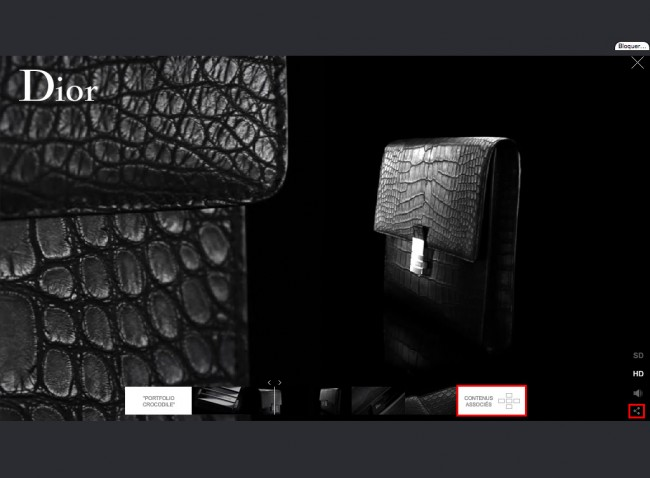 Dior.com - lecture d'une vidéo