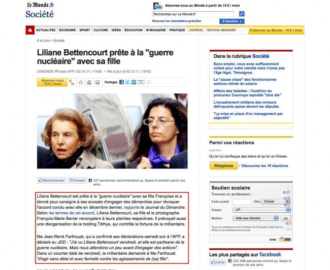 LeMonde.fr - liens cachés