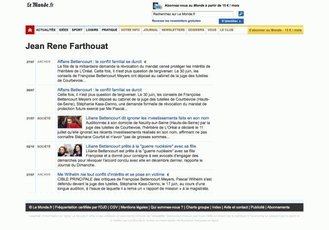 LeMonde.fr - fausse page de résultats de recherche