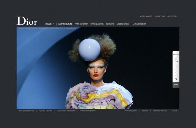 Dior.com - silhouette