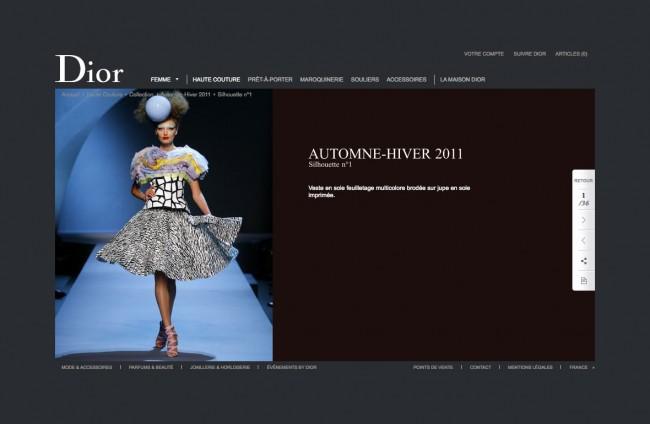 Dior.com - détail de la silhouette