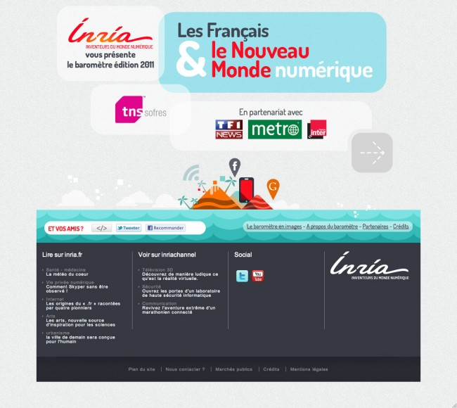 Baromètre Inria - page d'accueil revue