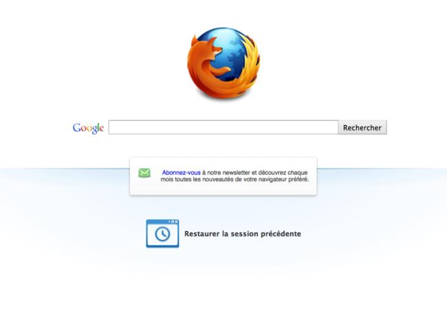 04 - Page de démarrage de Firefox