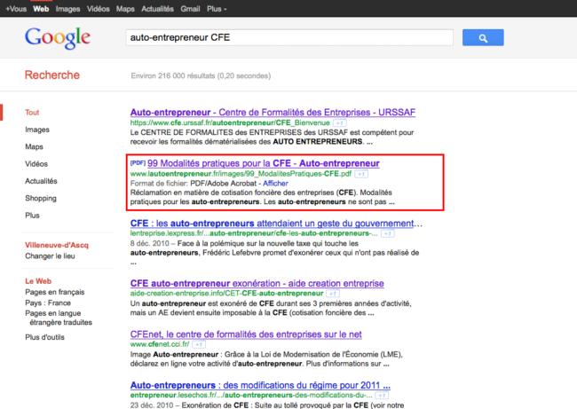 05 - Résultats de recherche Google