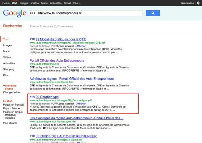 07 - Nouveaux résultats de recherche Google