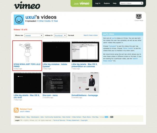 Interlude sécurité - compte Vimeo hacké