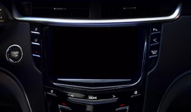 Cadillac User Experience - écran tactile
