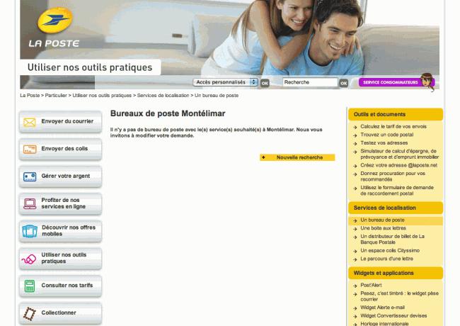 """Little big mistake - La poste : recherche """"Montélimar"""""""