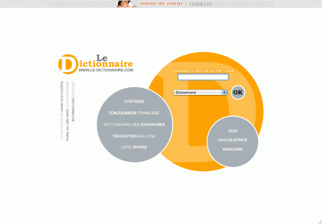 Little big mistake - Le dictionnaire : page d'accueil
