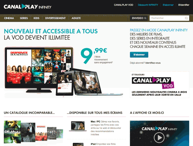 Canalplay - Page d'accueil