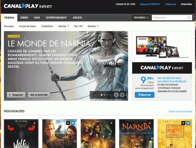 Canalplay - Rubrique cinéma