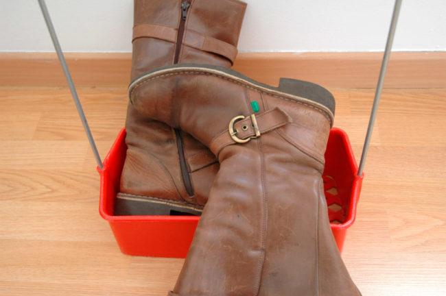 Des bottes dans le panier
