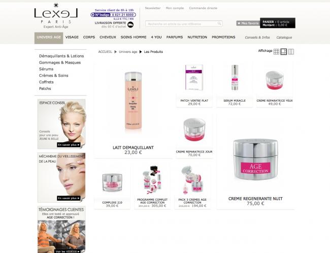 Lexel cosmétiques - pageliste multi-tailles