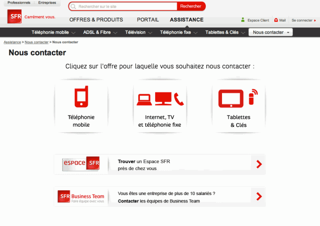 Vol de mobile chez SFR - 07 - contact