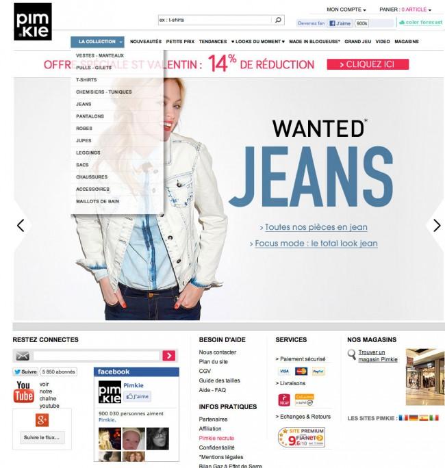 Pimkie.fr - homepage