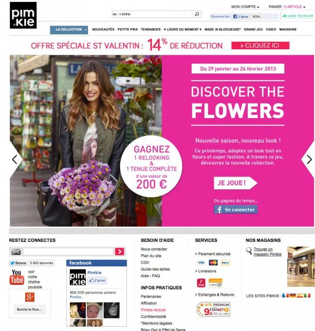 Pimkie.fr - carrousel en homepage