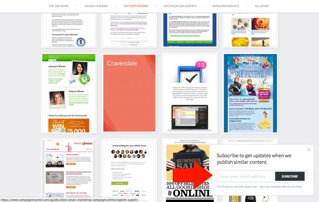 Campaign Monitor - layer en bas à droite