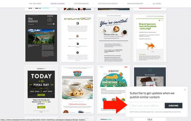 Campaign Monitor - layer sur une autre page