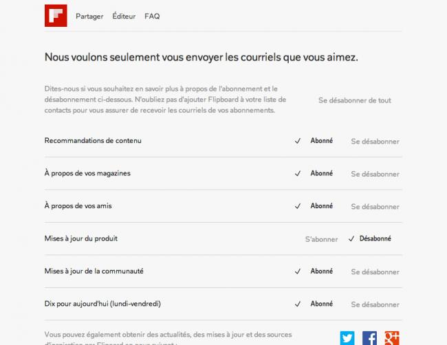 Flipboard : gestionnaire de courriels