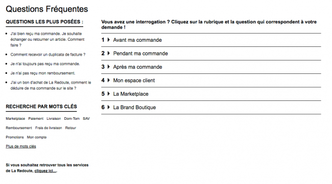 La Redoute - FAQ