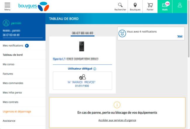 Bouygues Telecom - espace client