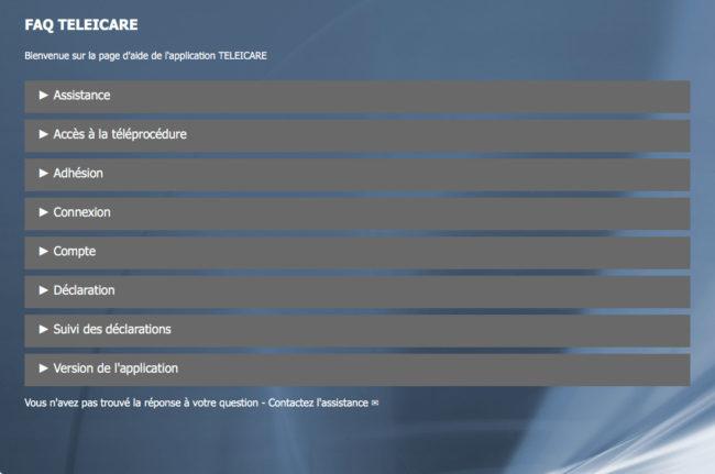 La page FAQ du site de télédéclaration de la DGCCRF